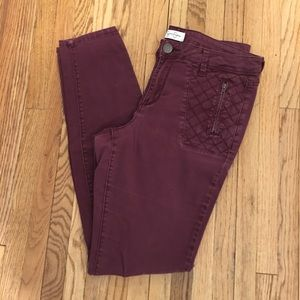 Jessica Simpson Maroon Jeggings/Pants